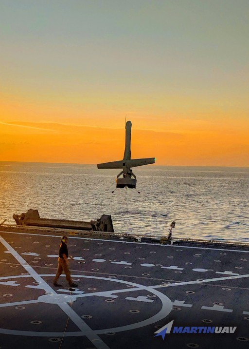 MARTIN UAV V-BAT SELECTED AS THE FIRST-EVER VTOL MEDIUM RANGE UAS TO BE EVALUATED DURING AN OPERATIONAL COAST GUARD PATROL