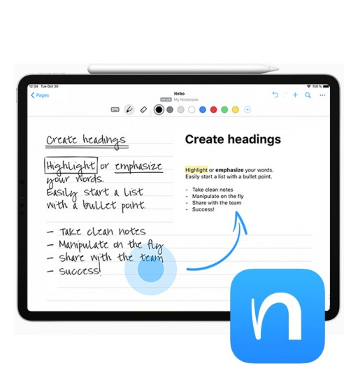 Nebo and the HUAWEI MatePad Pro Are the Perfect Match for Professional Note-Taking Worldwide