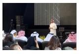 Sheikh Sultan bin Ahmed Al Qasimi answering media questions