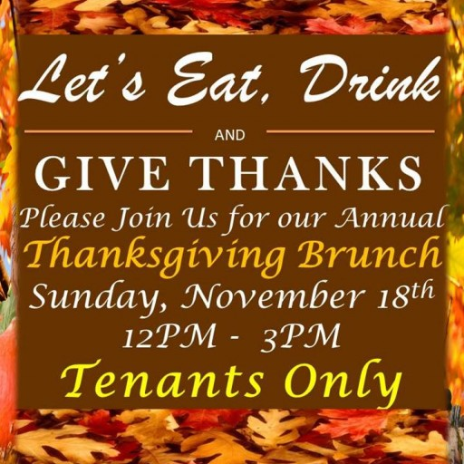TenTen Wilshire: Annual Thanksgiving Brunch for Tenants