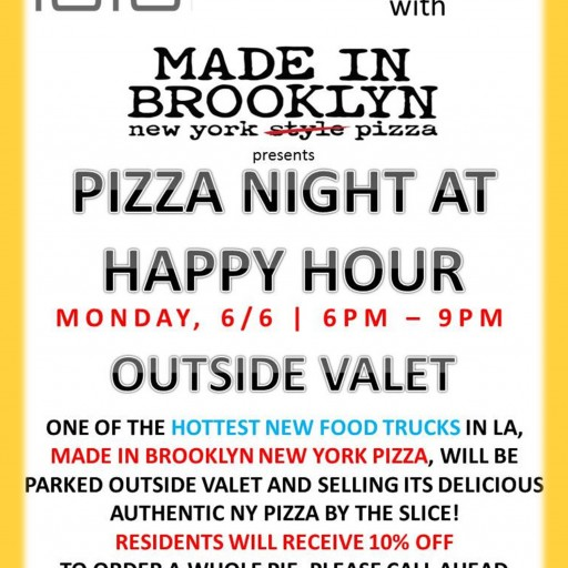 TENTEN Wilshire & Made in Brooklyn Present: Pizza Night at Happy Hour