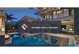 Modern Family Houses Two-Storey Home with Pool
