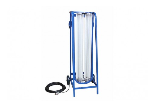 Larson Electronics Releases Explosion Proof LED Light for Paint Spray Booths, Wheeled Dolly Cart