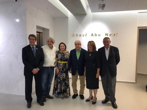 President Nicos Anastasiades and Mr. Ghazi Abu Nahl Launch New Gallery in Limassol