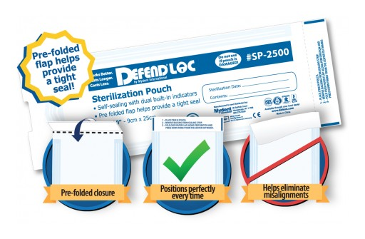 Mydent's New DEFENDLOC PRE-FOLDED Sterilization Pouches Help Ensure a Quick and Uniform Seal Every Time