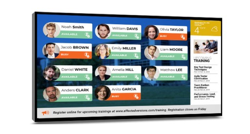 Mvix Adds Automated In/Out Board to Digital Signage Platform