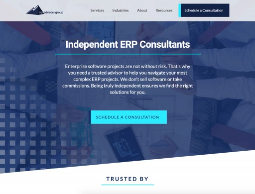 A New Source for Independent Information About Enterprise Software: ERP Advisors Group Announces New Website