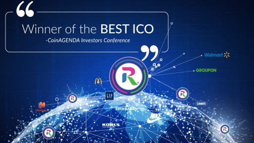rewardstoken.io Winner of Best ICO at CoinAgenda