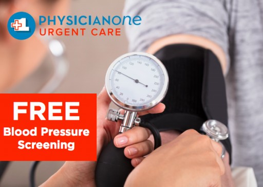 PhysicianOne Urgent Care Now Offers Free Blood Pressure Screenings