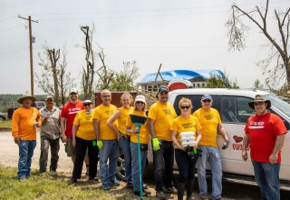 A team of Scientology Volunteer Ministers