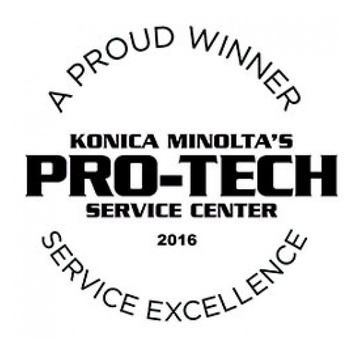 NovaCopy Receives 2016 Pro-Tech Service Award for Copier Excellence From Konica Minolta