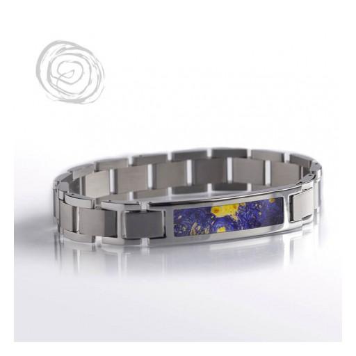 Blue Box Elder Burl Wood Bracelet