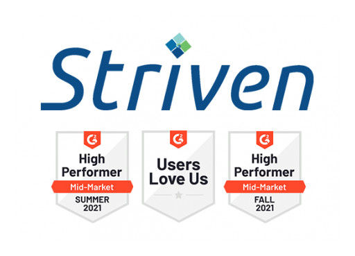 Striven Earns Top ERP Software Awards From G2 in 2021