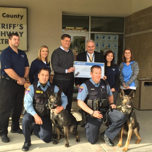 Aftermath Services Inc. Awards $5000 K9 Grant to Lake County Sheriff's Office