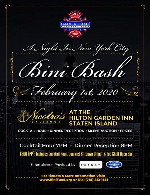 Jeweler Gerald Peters is Proud to Be a Main Sponsor for the Annual Carl V. Bini Memorial Fund Winter Bash