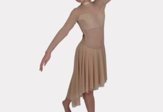 Long Sleeve Leotard Dress