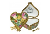 Gold Heart with Key To My Heart Limoges Box | LimogesCollector.com