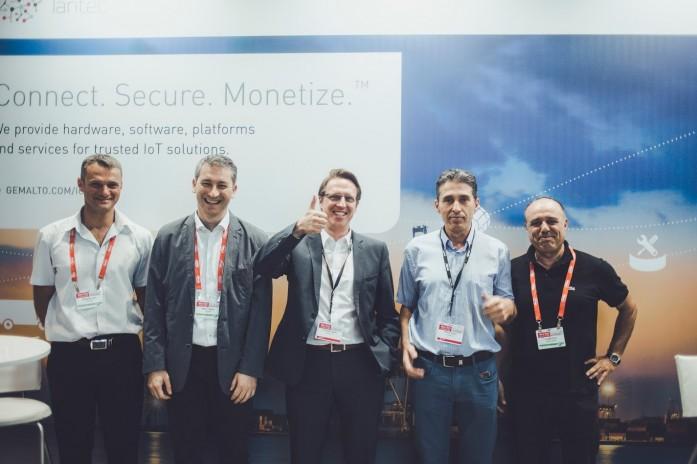Artec Lantec CEO Yoram Sror and Gemalto Team