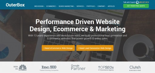 OuterBox Launches New Site to Promote Ecommerce Web Design and SEO Services