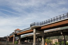 The Pedestrian Bridge in Glenwood Springs, Colorado