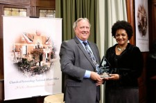 Ms. Cynthia Roseberry, Project Manager for Clemency Project 2014 and member of the Charles Colson Task Force on Federal Corrections presented Church of Scientology National Affairs Office annual humanitarian award.
