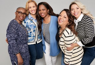 Dress For Success Clients Modeling Talbots x O, The Oprah Magazine Cardis For A Cause Collection