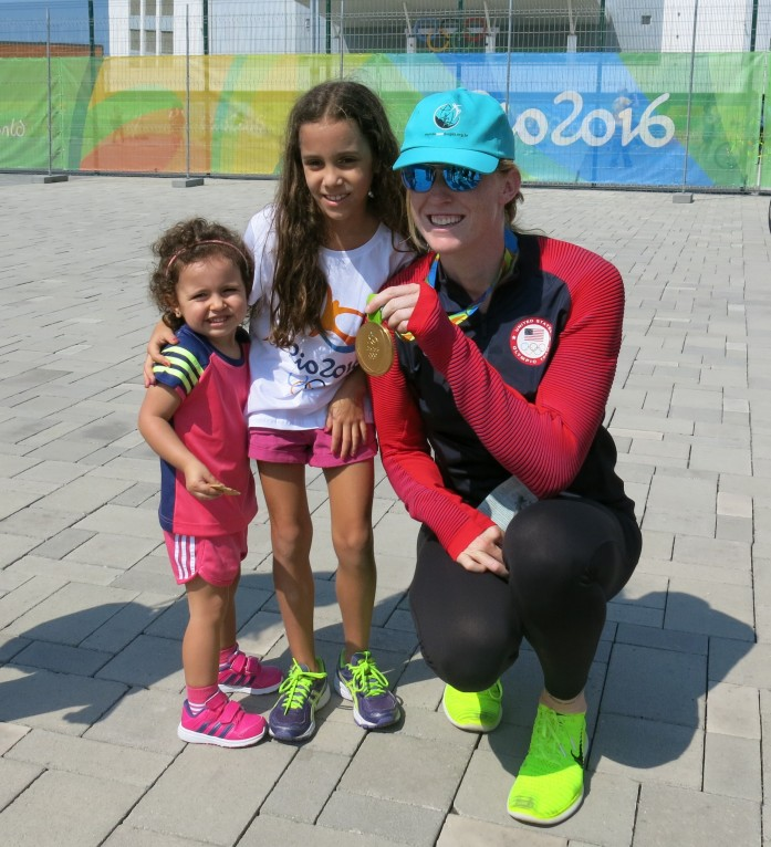 Emily Regan, of the U.S. Gold-Medal Women's Eight Rowing Team Tells Kids to Live Drug-Free