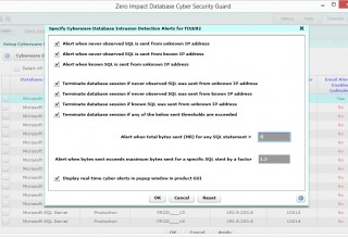 Database Intrusion Detection Alerts
