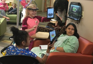 Pediatric Patients Playing Games on the New iPads