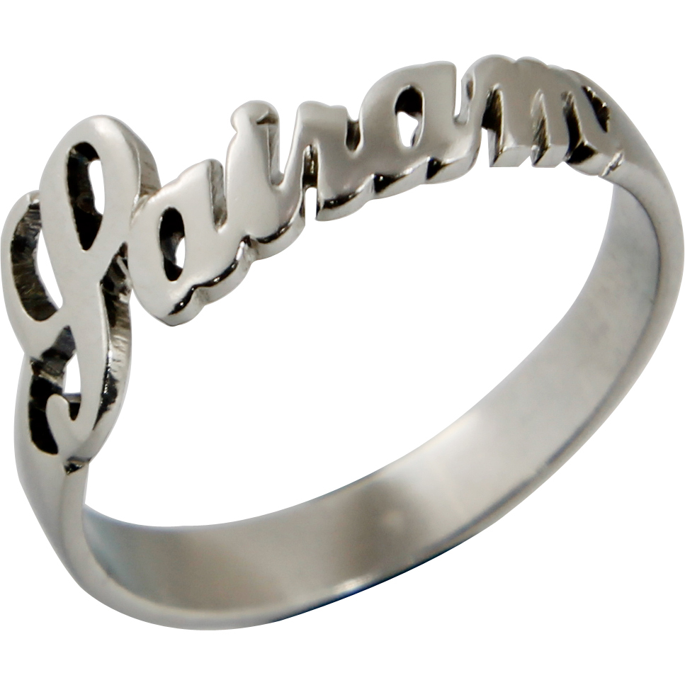 Sterling Silver Custom Name Ring | High end Personalized Jewelry ...