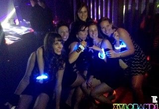 Las Vegas Club-Goers Show Off Live-Controlled LED Wristbands