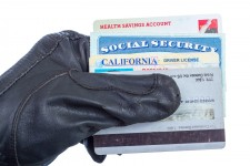 Identity Thief Holding Sensitive Information
