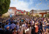 On a perfect Los Angeles afternoon,  thousands of Scientologists and their guests witnessed history unfolding with the dedication of the Church's advanced, fully integrated digital media center designed for the production and broadcasting of programs featuring Scientology technology and Church-sponsored humanitarian initiatives.