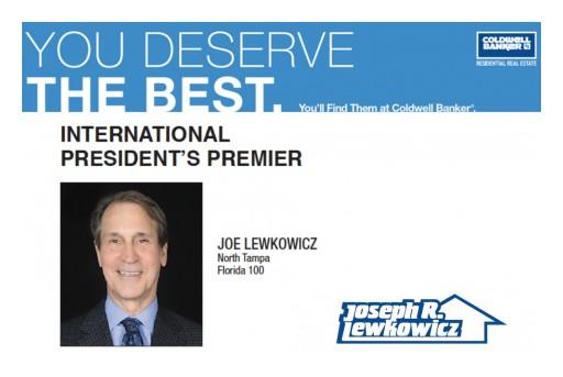 Joe Lewkowicz Awarded Coldwell Banker's International President's Premier for 2017-2018