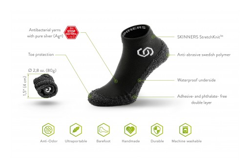 Skinners Shoe Socks Define a New Category of Footwear, Combining Comfort and Protection