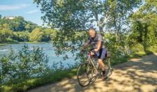 Riding along the Potomac River