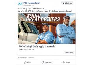 P&S Transportation's recruitment ads