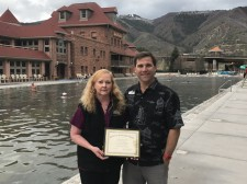 Trish Pickett, Devereux Award Winner, with Steve Matzl at Glenwood Hot Springs