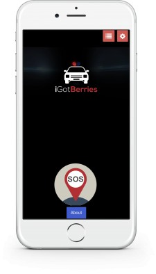 iGotBerries Homescreen. SOS Button. One Call. DUI App. DWI App.