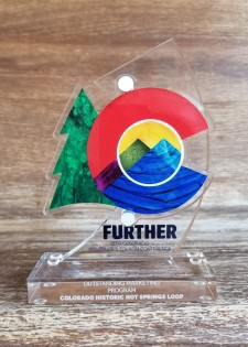 Colorado Governor's Award for Outstanding Marketing Program awarded to the CO Historic Hot Springs Loop