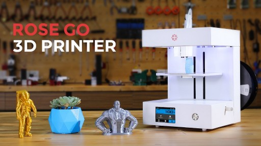 Rose Go Announces the Kickstarter Launch of Their Latest Sleek, Affordable, User-Friendly 3D Printer