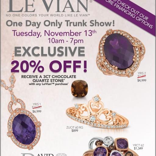David Hayman Jewellers Announces One-Day Le Vian Pop-Up Trunk Show