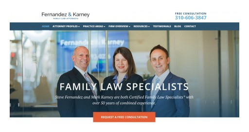Los Angeles Family Law Firm Fernandez & Karney Launches New Site