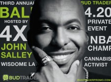 Four-time NBA Champion John Salley Will Host The Third Annual BudTrader Ball on 4/20