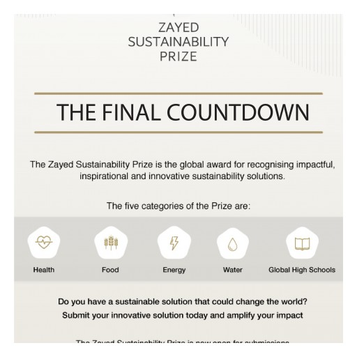 A Month Until Zayed Sustainability Prize Submission Deadline