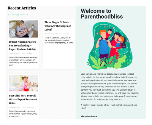 REIN Digital Launches Parenthoodbliss: A New & Honest Website With Hundreds of Educational Parenting Blogs to Learn From