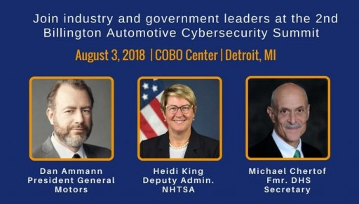 Over 35 Speakers From General Motors, FCA, Cummins, Cruise, the FBI, NHTSA, Toyota, Daimler AG, Ford Motor Company and the U.S. Senate to Address Future of Autonomous Cybersecurity