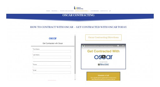 BenaVest's New AI Oscar Agent Contracting Portal Makes Life Easy for Agents to Get Appointed With Oscar