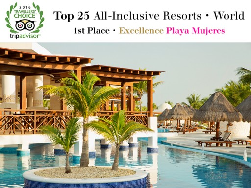 Excellence Playa Mujeres Named Best All-Inclusive Resort in the World