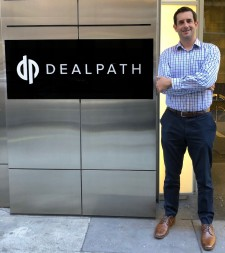 Dealpath sign and Mike Sroka CEO - NYC & SF